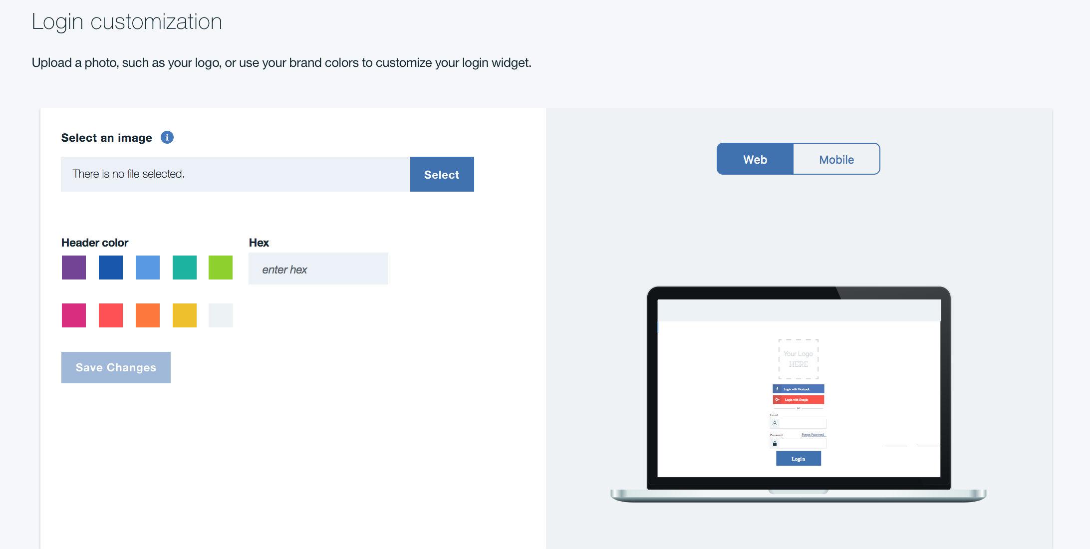 Customize your login screen
